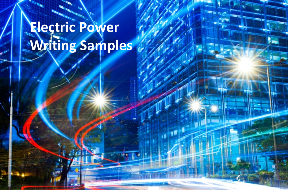 Electric Power Writing Samples