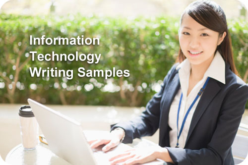 Information Technology Writing Samples
