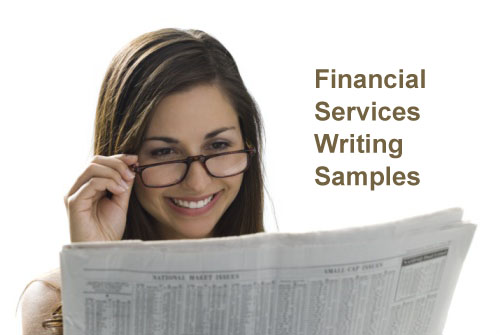 Financial Services Writing Samples