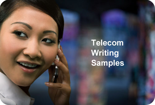 Telecommunications Writing Samples